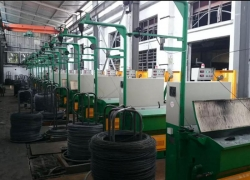 Present stainless steel wire production process