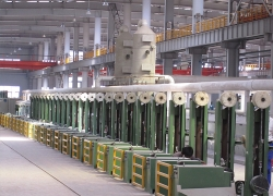 Single-wire copper-coating welding wire production process